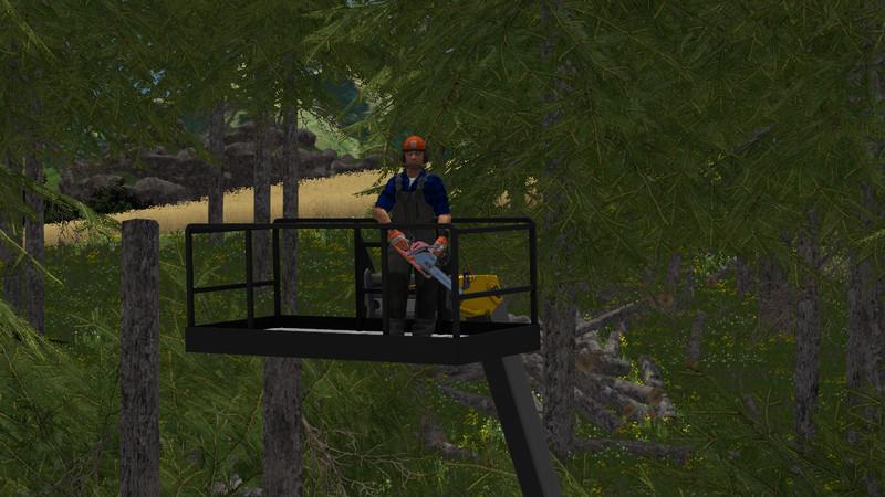 arbeitskorb fur einen teleskoplader 1 Work Basket For Telescopic Forklift Loader V 1.0