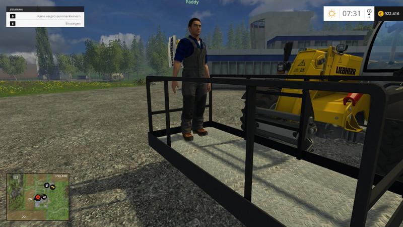 arbeitskorb fur einen teleskoplader Work Basket For Telescopic Forklift Loader V 1.0