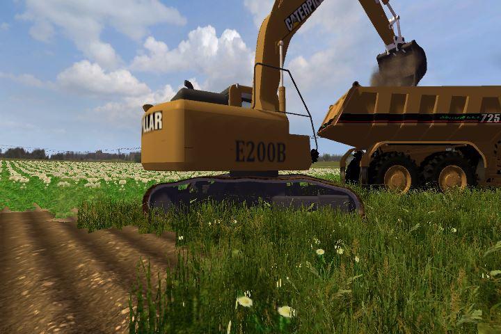 cat e200b 1 0 1 Cat E200B Excavator v 1.0