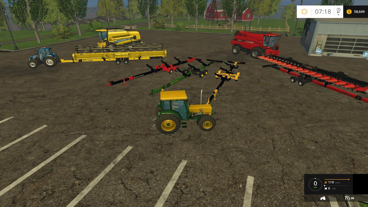 COMBINES HEADER'S PACK V1.3 - Farming simulator 2015 mods